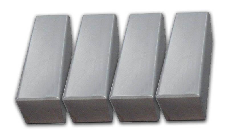 pieds de lit carr gris 20 cm accessoires lits pieds. Black Bedroom Furniture Sets. Home Design Ideas
