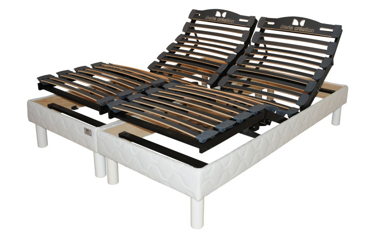 sommier electrique lattes tissu futura en 2 x 80 x 200 vj confect sommiers. Black Bedroom Furniture Sets. Home Design Ideas