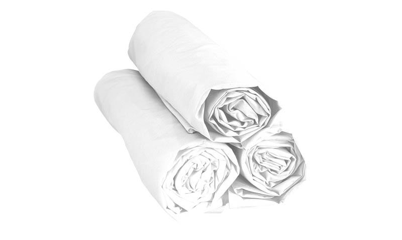 drap housse molleton blanc 140 x 190 par literie creation draps. Black Bedroom Furniture Sets. Home Design Ideas