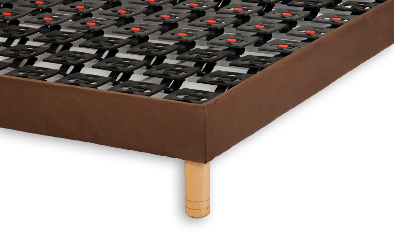 sommier fixe a plots chocolat evario 2 x 80 x 200 par vj. Black Bedroom Furniture Sets. Home Design Ideas